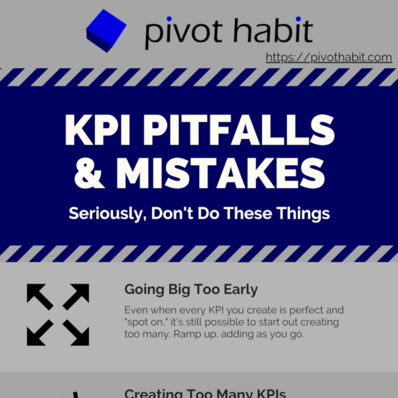 The top seven pitfalls and mistakes to avoid when using KPIs.